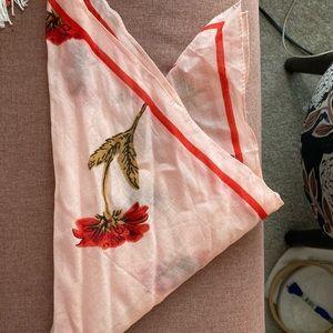 Madewell poppy bandana scarf
